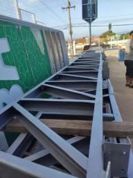 10 Treliças para galpão de 11,90 metros de largura com terças.