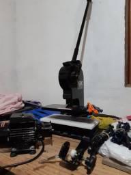 Máquina de fazer chinelos, escariadora,  colocador de tiras manual.