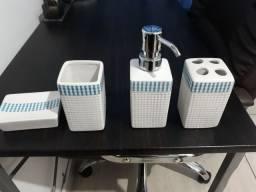 Kit Banheiro Lavabo Porcelana