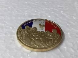 Moeda Comemorativa França Campeão Do Mundo de Futebol 2018