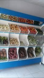 Expositores de frutas e verduras
