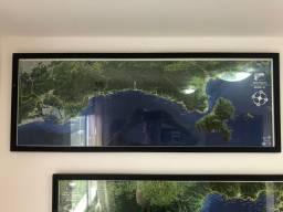 Quadros Mapas Litoral RJ x SP
