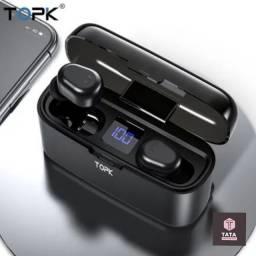Fone De Ouvido Tws Topk F24 Sem Fio Com Bluetooth 5.0 e PoweBank