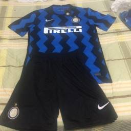 Conjunto Inter Milão Nike Masculina - Azul e Preto