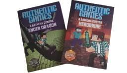 Kit Livro Authentic Games - Herobrine e Ender Dragon