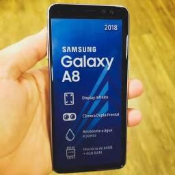 Samsung A8 sem sethes 64gb 4gb se Ram. Cometa Celular Anápolis