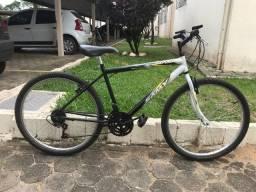 """Bicicleta Samy Export Aro 26"""" Preta/Branca Ferro"""