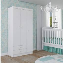 Guarda Roupa Infantil 3 Portas Happy Baby Atualle