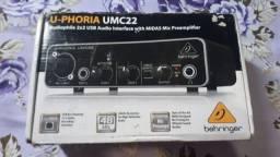 Interface De Áudio Behringer U-phoria Umc22 -Aceito trocas