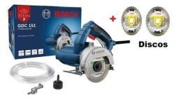 Promoçao* Serra Mármore Titan Bosch GDC 151 Bosch - 1500W + 2 Disco - 127V