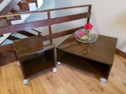 Conjunto mesa de centro e mesa de canto