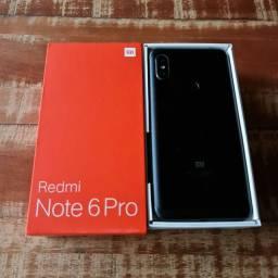 Xiaomi Redmi Note 6 Pro 64gb na caixa completo aceito cartão/celular como pagto