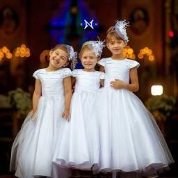 Vestidos infantis Daminhas, floristas Aluguel