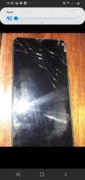 A10 cm a tela trincada faz troca em celular do meu interesse