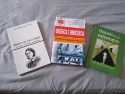 Kits de livros na ária de enfermagem