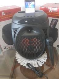 Caixa bluetooth amplificada com microfone