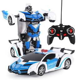 Robôs de transformação de carro rc controle remoto carro esportivo modelo de veículos robô