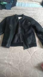 Jaqueta couro juvenil tamanho 12