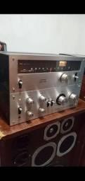 Amplificador e tuner pioneer