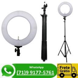 Iluminador Ring Light 10 Polegadas Profissional Tripé 2.1m + Luminaria (NOVO)