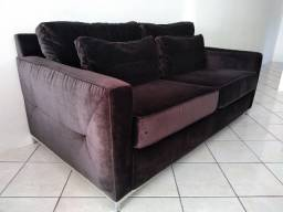 Sofá em veludo preto