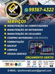 Assistência técnica especializada em Manutenção de Computadores e Notebooks.