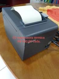 Impressora térmica + leitor de código de barras