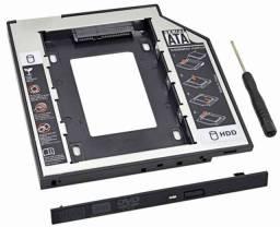 Adaptador caddy 12.7mm e 9.5mm HD Ou Ssd 2.5-Notebook- Produto novo