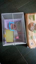 Gaiola para hamster + forro