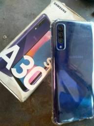 Samsung A30s 64 Gigas 4G+ V/T em inferior + volta