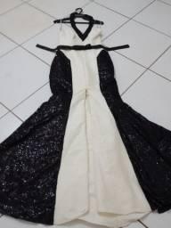 Vestido longo com echarpe para madrnha ou mae