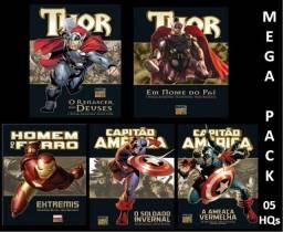 HQs Marvel Deluxe - Mega Pack - pacote c/ 5 HQs