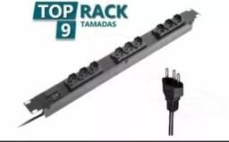 Filtro de Linha p/ Rack 09 Tomadas Profissional Extensão Bivolt RCG- Novo na Caixa