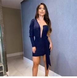 Vestido azul Marinho com brilhos