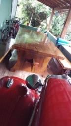Passo essa messa com banco madeira macisa .valor 5 mil .zap *