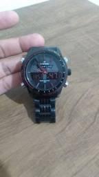 Relógio Naviforce Analógico e Digital Led NF9024 - Preto