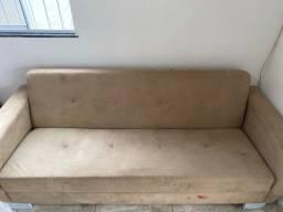 Vendo sofá cama bege