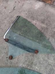 Vidro verde para lateral esquerda de Opala Coupe.
