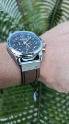Relógio CURREN (C/ Cronógrafo) Azul/Pta/Marrom