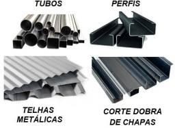 Título do anúncio: Perfis, Tubos, Metalons, Telhas metálicas, Corte e Dobra