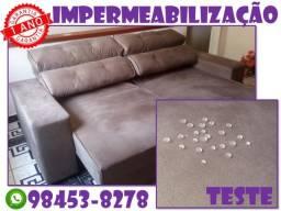 Limpeza ou impermeabilização de estofados