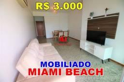 Apto Mobiliado no Miami Beach 98m² 3 Qts suite 4 andar
