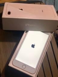 iPhone 8 Plus Gold rose 64 giga aceito cartão
