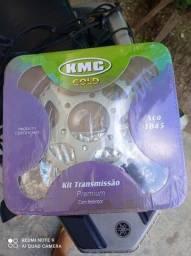 Kit Relação Kmc Crosser 150 Com Retentor Aço 1045
