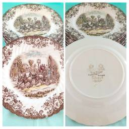 Porcelana Inglesa Johnson Brothers Marrom