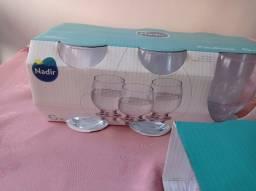 Taças para água e jogo de sobremesa nadir