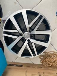 Jogo de Roda aro 22 com 4 pneus 265/45 novos