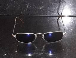 Óculos de sol unissex com lente azulada