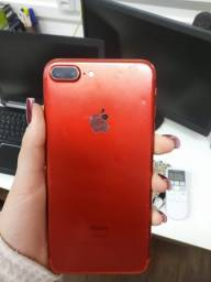 Título do anúncio: vendo iphone 7 plus 128 RED