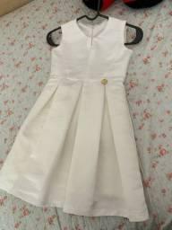 Vestido off white luxo